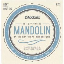 D'ADDARIO J-73 PHOSPHOR BRONZE LIGHT - SNAREN MANDOLINE 010-014-024-038