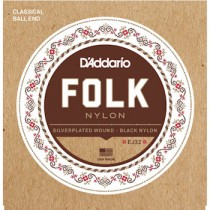 D'ADDARIO EJ32 - SNAREN NYLON / FOLK BALL END