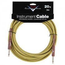 FENDER CUSTOM SHOP PERFORMANCE INSTRUMENT CABLE 099-0820-050 - KABEL JACK 6.3 TWEED 6 MTR / 20FT