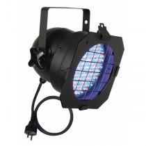SHOWTEC 42421 - LED PAR 56 ZWART 15W DMX 50CM KABEL