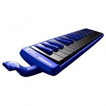 Hohner Melodica Ocean Student-serie 32 in een blauwe behuizing met zwarte toetsen.