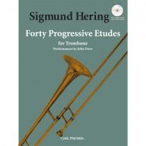 HERING, SIGMUND - 40 PROGRESSIVE ETUDES TROMBONE + CD