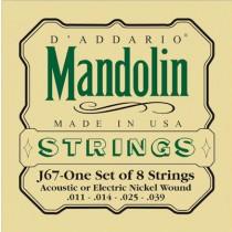 D'ADDARIO J-67 NICKEL MEDIUM - SNAREN MANDOLINE 011-014-025-039
