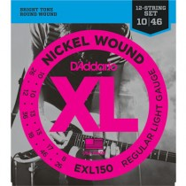D'ADDARIO EXL150 12 STRING - SNAREN 010-046 NICKELWOUND