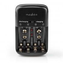 NEDIS BACH07 - LADER NICD/NIMH 4X AA AAA - 2X 9V