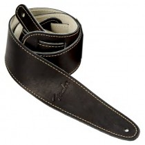 FENDER BALL GLOVE LEATHER STRAP BLACK - GITAARRIEM ZWART LEDER 6CM BREED