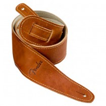 FENDER BALL GLOVE LEATHER STRAP BROWN - GITAARRIEM BRUIN LEDER 6CM BREED
