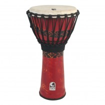 """TOCA SFDJ-12RP FREESTYLE ROPE TUNED - DJEMBE 12"""" BALI RED - HOOGTE 24"""" (61CM)"""