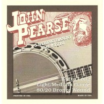 JOHN PEARSE 1700LM LIGHT/MEDIUM 80/20 BRONZE WOUND - SNAREN BANJO 010-020W LOOP END