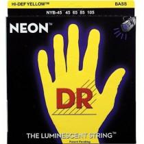 DR NYB-45 - SNAREN BASGITAAR NEON YELLOW