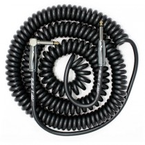 BULLET CABLE BC-30CCSA COIL CABLE - KABEL SPIRAAL ZWART 1X HAAKS 9MTR