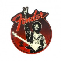 FENDER MAGNET JIMI HENDRIX PEACE SIGN BLACK/RED - MAGNEET