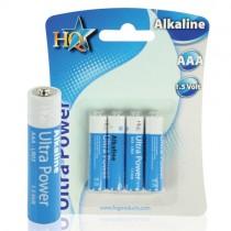 HQ-ALK-AAA-01 4-PACK - BATTERIJ AAA ALKALINE 1.5V LR03