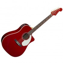FENDER SONORAN SCE CUTAWAY CANDY APPLE RED 096-8604-009 - GITAAR WESTERN SOLID TOP FISHMAN EQ