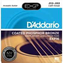 D'ADDARIO EXP16 COATED - SNAREN 012-053 PHOSPHOR BRONZE