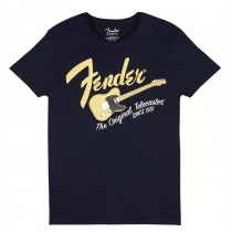 FENDER TEE 9193010526 SMALL - T-SHIRT NAVY BLUE BLONDE TELE S
