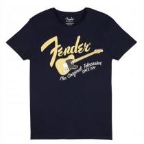FENDER TEE 9193010529 X LARGE - T-SHIRT NAVY BLUE BLONDE TELE XL