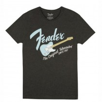 FENDER TEE 9193010522 MEDIUM - T-SHIRT DARK GREY S-BLUE TELE M