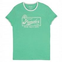 FENDER TEE 9193010547 MEDIUM - T-SHIRT SURF GREEN BEER LOGO M
