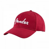 FENDER STRETCH CAP 9106002606 - PET SPAGHETTI LOGO WIT OP ROOD