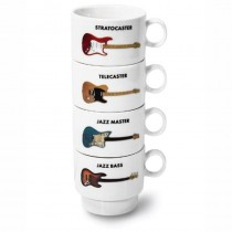FENDER STACKABLE MUG SET 9123012000 - MOKKEN STRAT TELE JAZZMASTER J-BASS