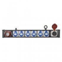 SHOWTEC 50296 BREAKOUT BAR 6 - KRACHTSTROOM VERDELER 2X5P 6X3P/RA