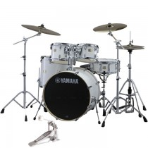 "YAMAHA STAGE CUSTOM BIRCH PURE WHITE JSBP0F5PWH6W - DRUMSTEL FUSION 5-DELIG 20"" BD + hardware"