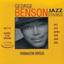 THOMASTIK GB-112 GEORGE BENSON SIGNATURE - SNAREN ELEKTRISCH 012-053 FLATWOUND
