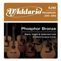D'ADDARIO EJ42 RESOPHONIC DOBRO - SNAREN 016-056 PHOSPHOR BRONZE