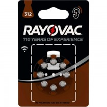 RAYOVAC RAY-312B-8P KNOOPCEL 8-PACK - BATTERIJ GEHOORAPPARAAT PR41 1.4V 312
