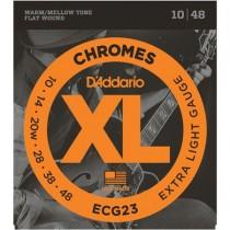 D'ADDARIO ECG23 CHROMES - SNAREN 010-048 NICKEL FLATWOUND