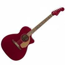 FENDER NEWPORTER PLAYER CANDY APPLE RED WN - GITAAR WESTERN GRAND AUDITORIUM EQ