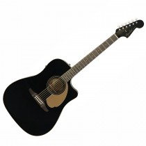 FENDER REDONDO PLAYER JETTY BLACK WN - GITAAR WESTERN DREADNOUGHT EQ CA