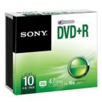SONY 10DPR47SS 10-PACK - DVD+R 4.7GB 120MIN SLIMCASE