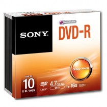 SONY 10DMR47SS 10-PACK - DVD-R 4.7GB 120MIN SLIMCASE
