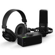 EVO 4 (BY AUDIENT) START RECORDING BUNDLE - AUDIO INTERFACE + MICROFOON & HOOFDTELEFOON