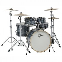 "GRETSCH RENOWN MAPLE RN2-E8246 SILVER OYSTER PEARL - DRUMKIT SHELL SET 10"" 12"" 16"" 22"""