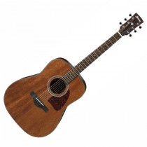IBANEZ AW54-OPN SOLID MAHOGANY TOP - GITAAR WESTERN DREADNOUGHT OP RW