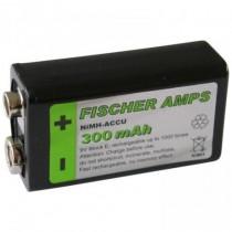 FISCHER AMPS BATTERIJ - ACCU NIMH 9V 300MAH 1000X OPLADEN