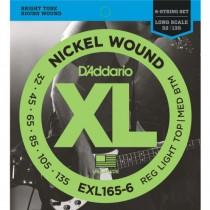 D'ADDARIO EXL165-6 6-STRING - SNAREN BAS 032-135 NICKELWOUND