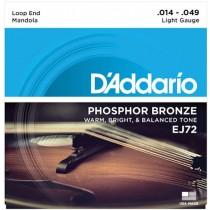D'ADDARIO EJ72 PHOSPHOR BRONZE LIGHT - SNAREN MANDOLA 014-023-034-049