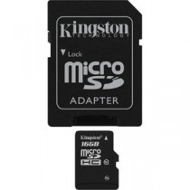 KINGSTON SDC4/16GB CLASS 4 - MICRO SDHC MEMORY 16 GB + ADAPTER