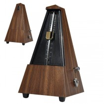 BOSTON BMM-100-WG WOOD GRAIN (HOUTSTRUCTUUR) - METRONOOM PYRAMIDE MECHANISCH + BEL