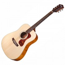 GUILD D-240E LTD FLAME MAHOGANY - GITAAR WESTERN DREADNOUGHT EQ NAT