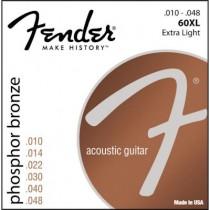 FENDER 60XL PHOSPHOR BRONZE - SNAREN WESTERN 010-048 WOUND