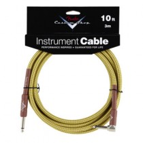 FENDER CUSTOM SHOP PERFORMANCE INSTRUMENT CABLE 099-0820-029 - KABEL JACK 6.3 1X HAAKS TWEED 3 MTR