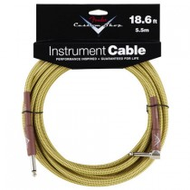 FENDER CUSTOM SHOP PERFORMANCE INSTRUMENT CABLE 099-0820-031 - KABEL JACK 6.3 1X HAAKS TWEED 5.5 M