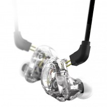 STAGG SPM-235 TRANSPARANT - HOOFDTELEFOON IN-EAR 2-DRIVER STAGE MONITOR