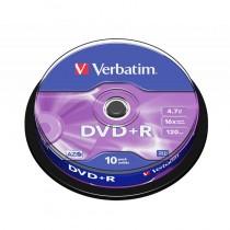 VERBATIM 43498 SPINDLE 10 - DVD+R 4.7GB 120MIN 16 SPEED