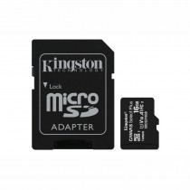 KINGSTON SDCS2/16GB CANVAS SELECT PLUS - GEHEUGEN MICRO SD HC 100MB/S + ADAPTER